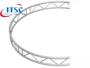 Curved lighting truss
